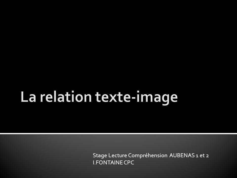 La relation texte-image