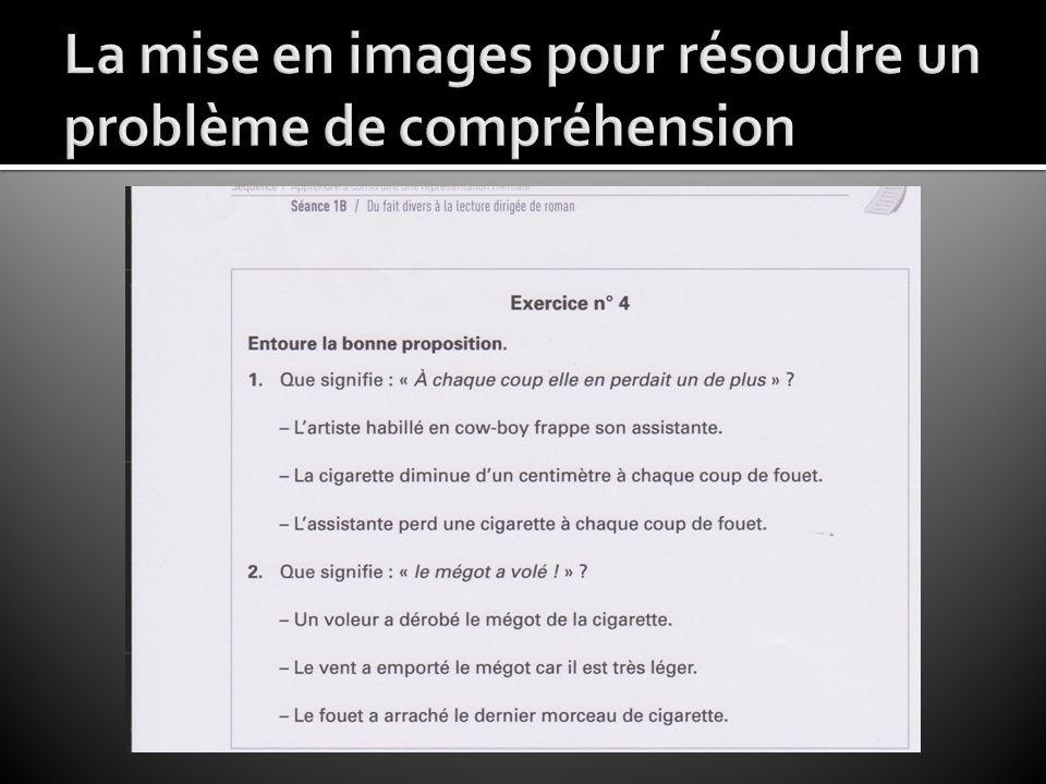 La mise en images pour résoudre un problème de compréhension