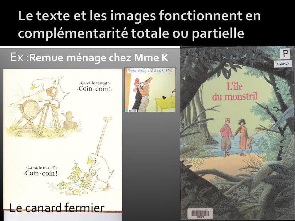Le texte et les images fonctionnent en complémentarité totale ou partielle