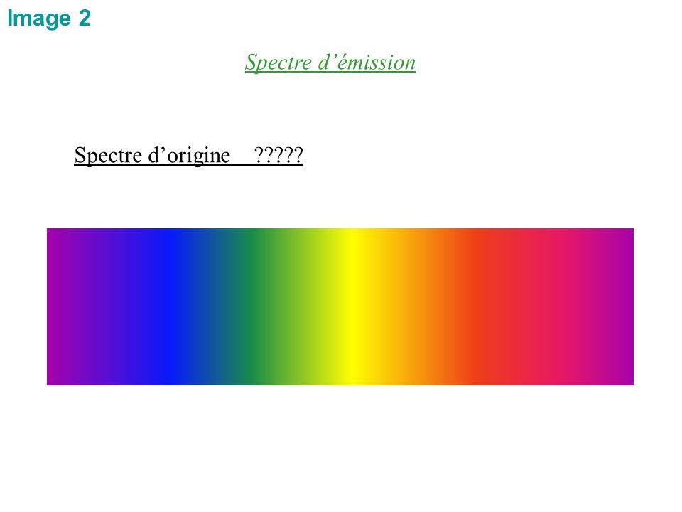 Image 2 Spectre d'émission Spectre d'origine