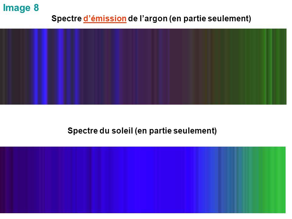 Image 8 Spectre d'émission de l'argon (en partie seulement)