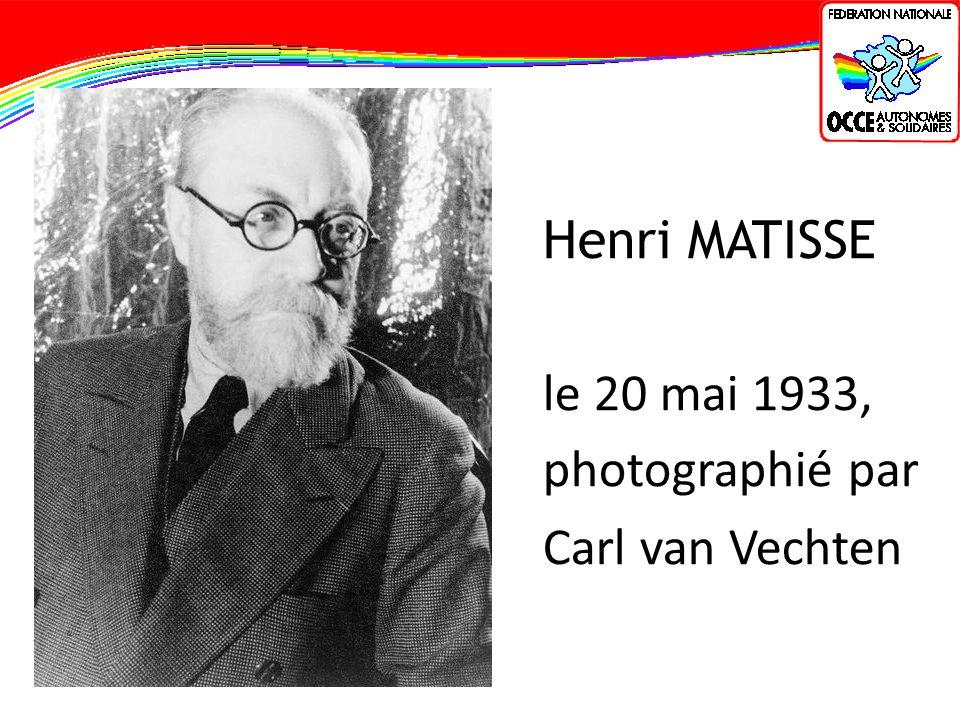 Henri MATISSE le 20 mai 1933, photographié par Carl van Vechten
