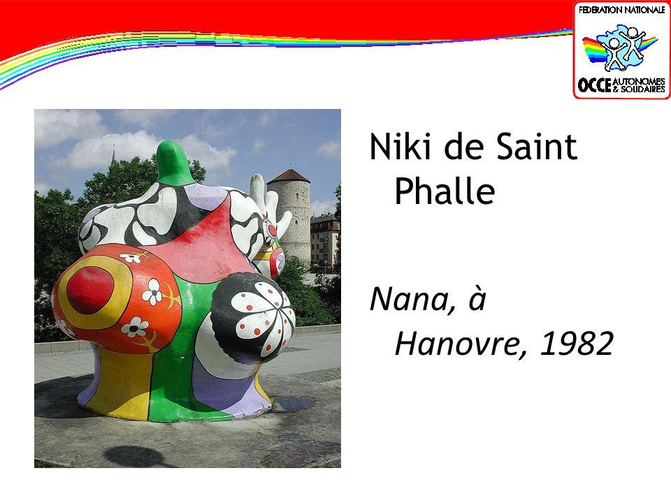 Niki de Saint Phalle Nana, à Hanovre, 1982