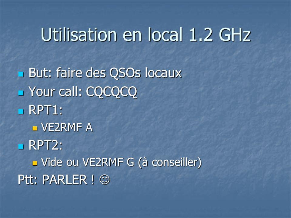 Utilisation en local 1.2 GHz