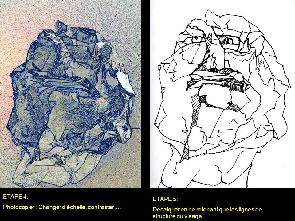ETAPE 4: Photocopier : Changer d'échelle, contraster….