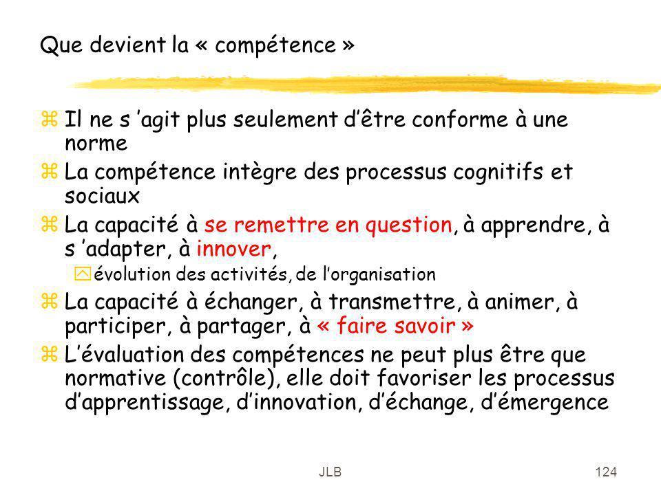 Que devient la « compétence »