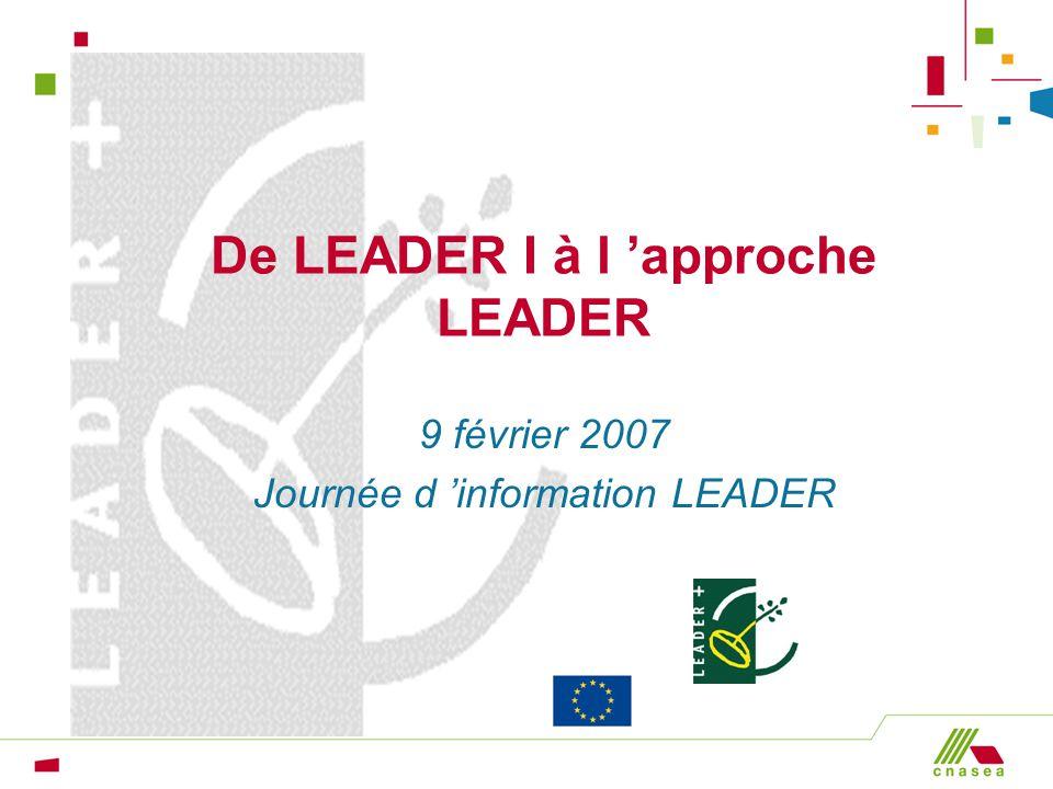 De LEADER I à l 'approche LEADER
