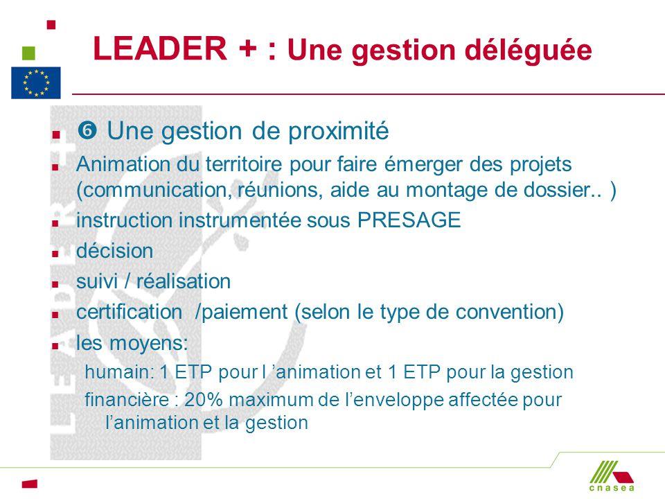 LEADER + : Une gestion déléguée