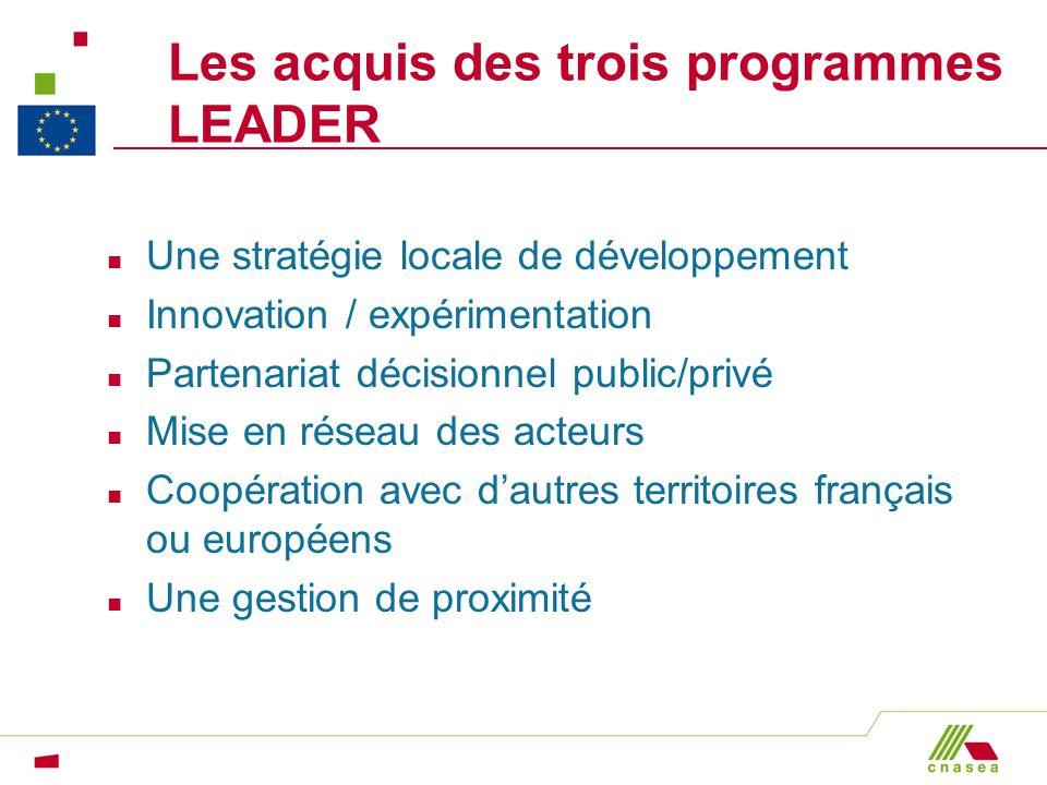 Les acquis des trois programmes LEADER