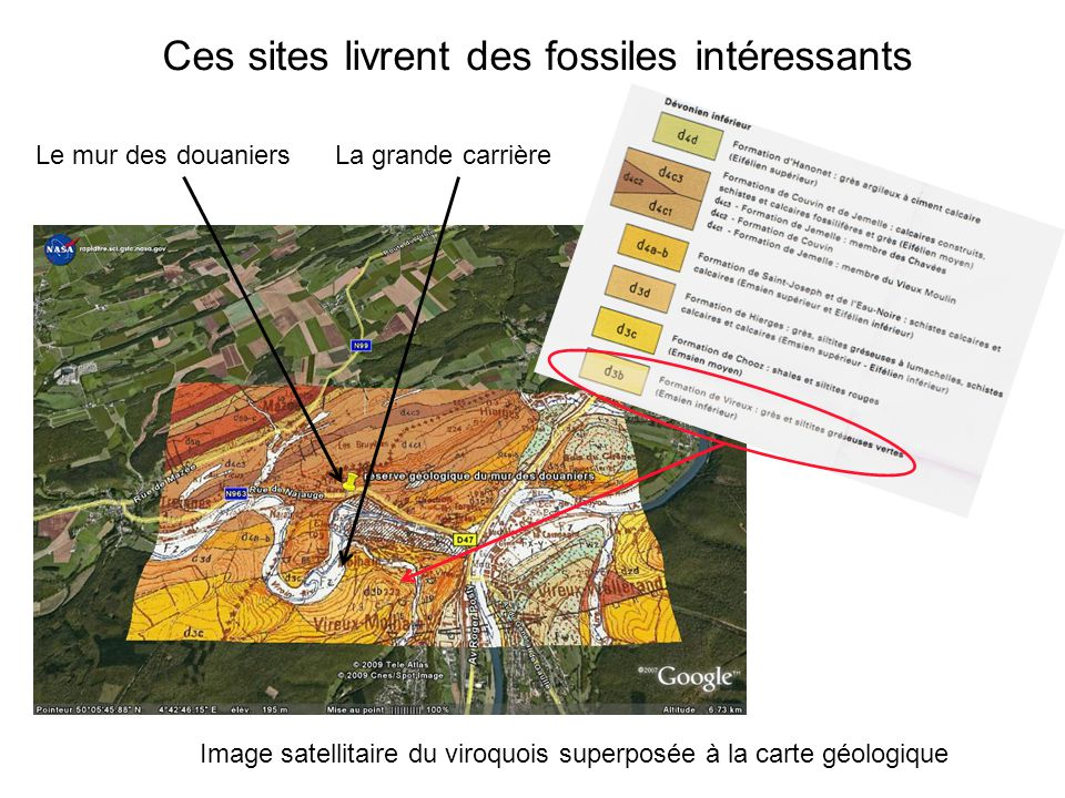 Ces sites livrent des fossiles intéressants