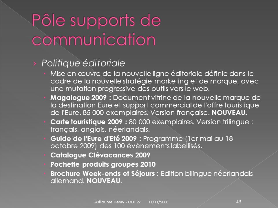 Pôle supports de communication