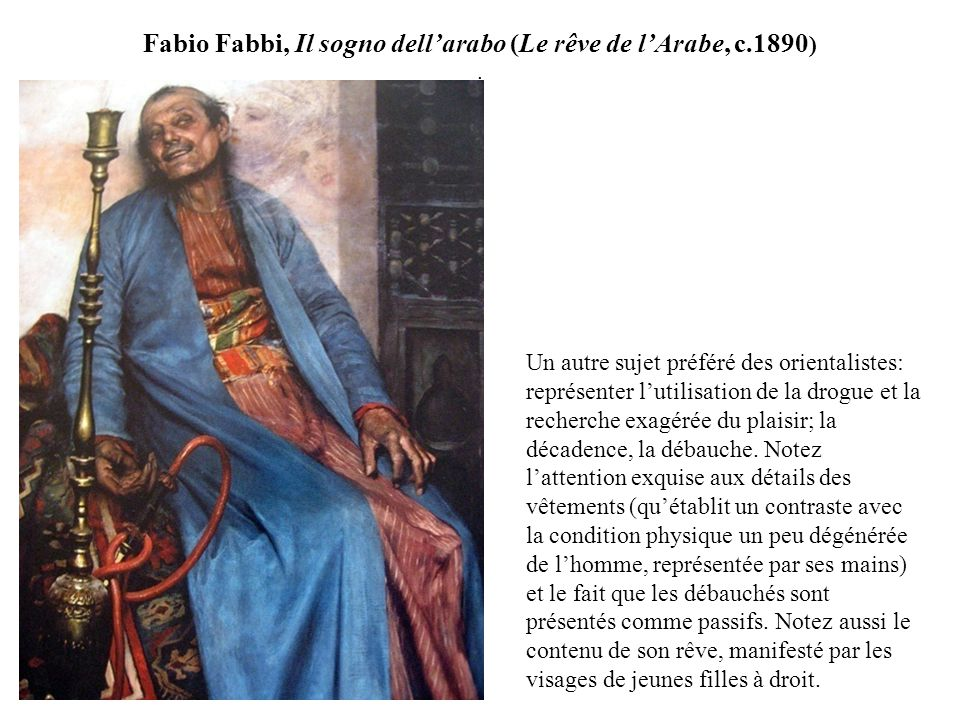 Fabio Fabbi, Il sogno dell'arabo (Le rêve de l'Arabe, c.1890) .