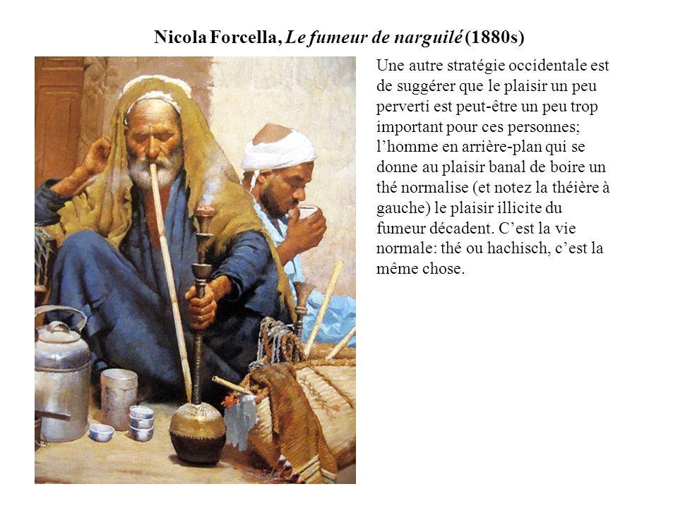 Nicola Forcella, Le fumeur de narguilé (1880s)