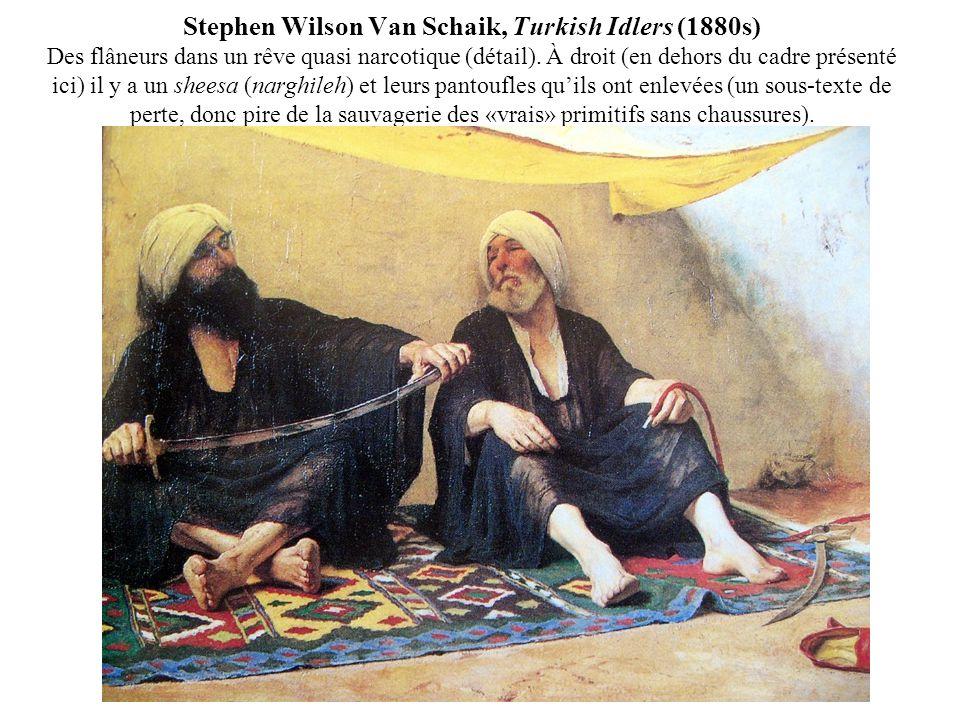 Stephen Wilson Van Schaik, Turkish Idlers (1880s) Des flâneurs dans un rêve quasi narcotique (détail).