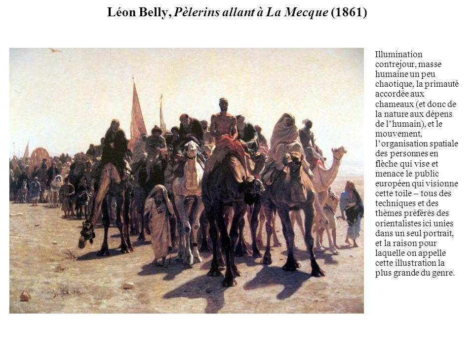 Léon Belly, Pèlerins allant à La Mecque (1861)