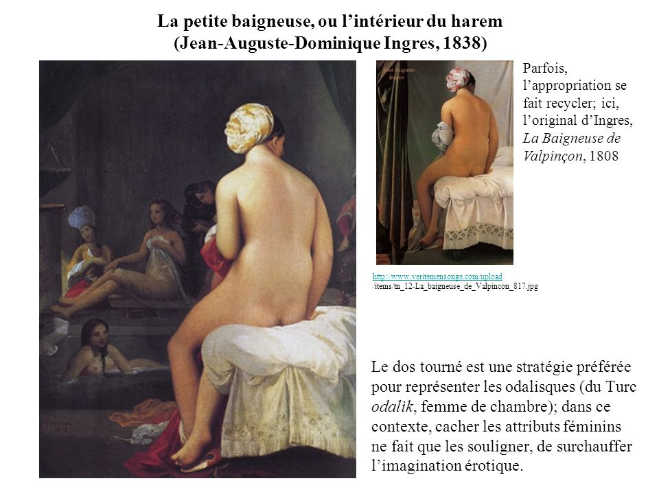 La petite baigneuse, ou l'intérieur du harem (Jean-Auguste-Dominique Ingres, 1838)