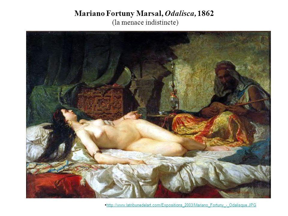Mariano Fortuny Marsal, Odalisca, 1862 (la menace indistincte)