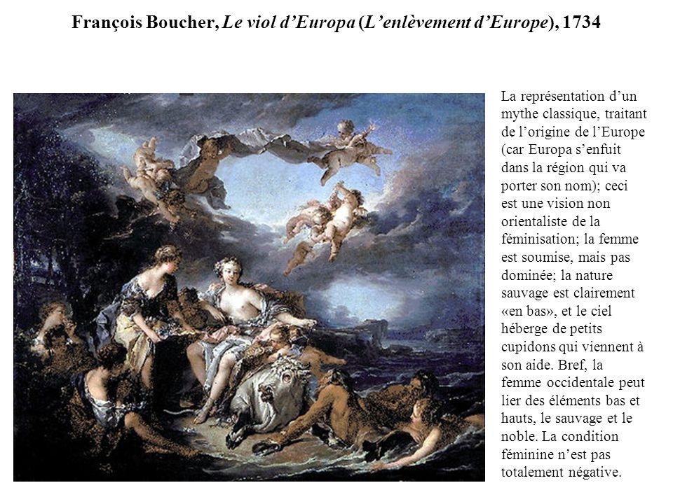 François Boucher, Le viol d'Europa (L'enlèvement d'Europe), 1734