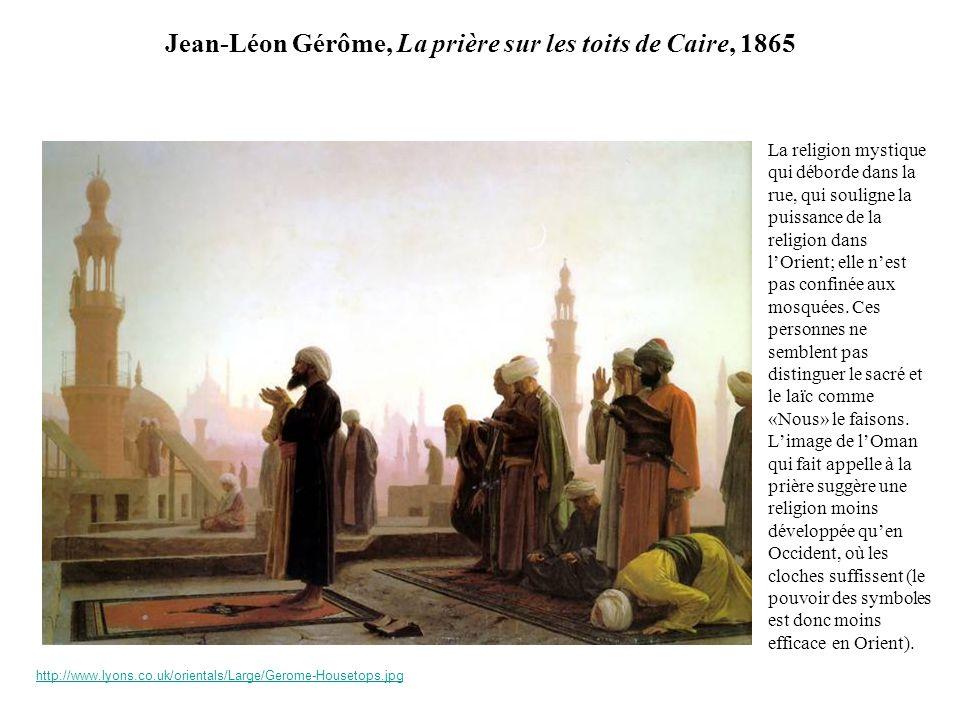 Jean-Léon Gérôme, La prière sur les toits de Caire, 1865