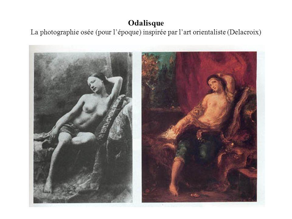 Odalisque La photographie osée (pour l'époque) inspirée par l'art orientaliste (Delacroix)
