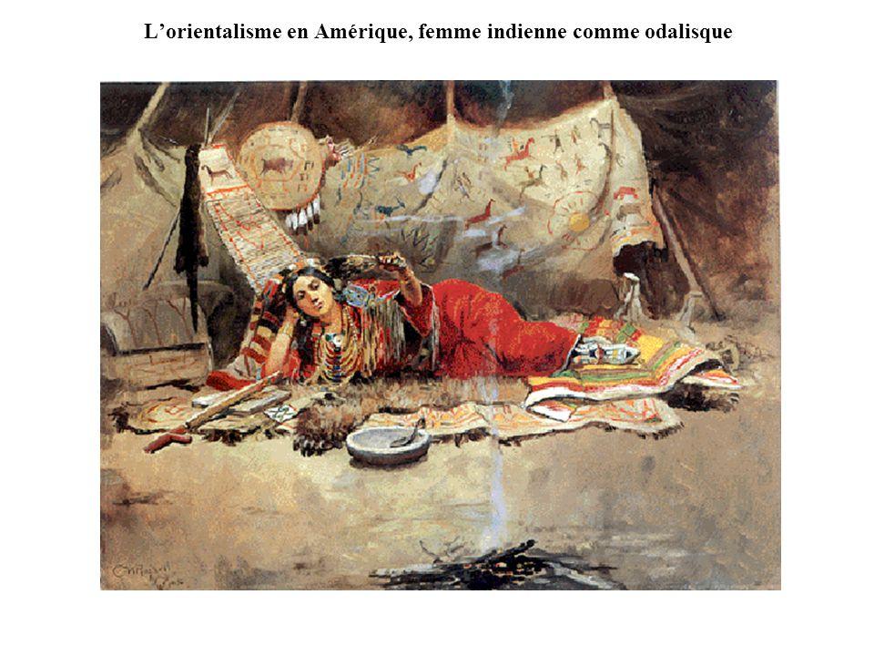 L'orientalisme en Amérique, femme indienne comme odalisque