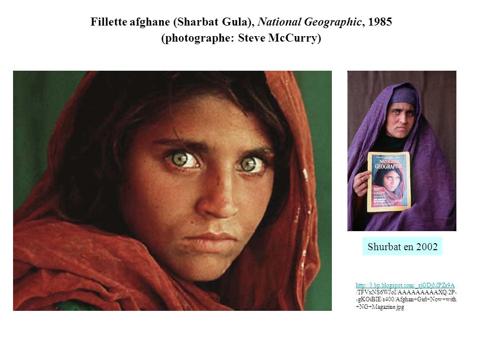 Fillette afghane (Sharbat Gula), National Geographic, 1985 (photographe: Steve McCurry)
