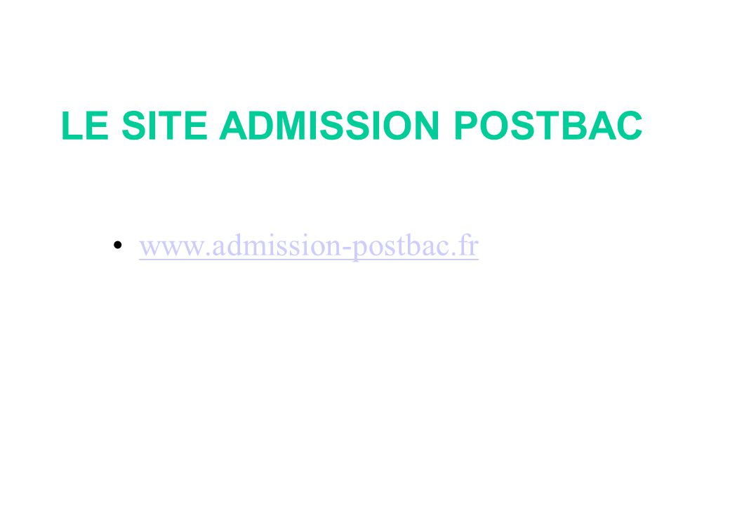 LE SITE ADMISSION POSTBAC