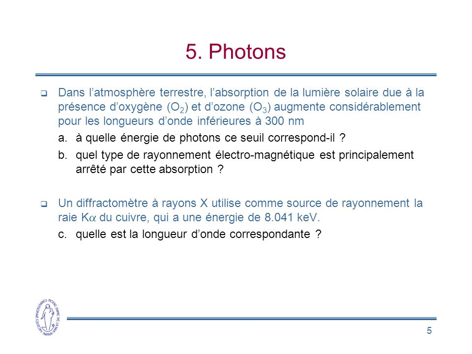 5. Photons
