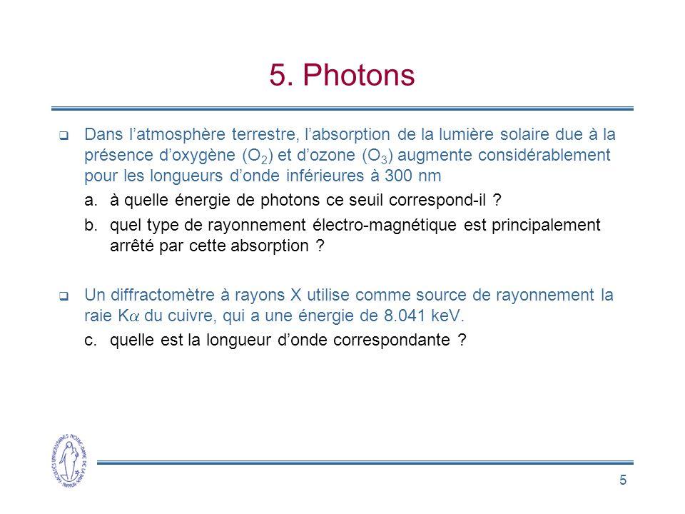 5. Photons