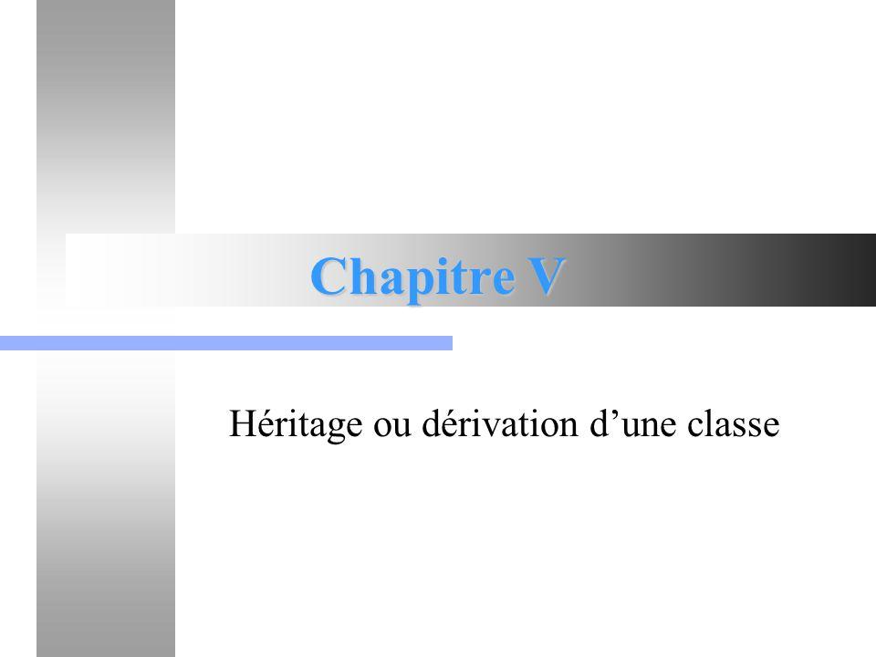 Héritage ou dérivation d'une classe