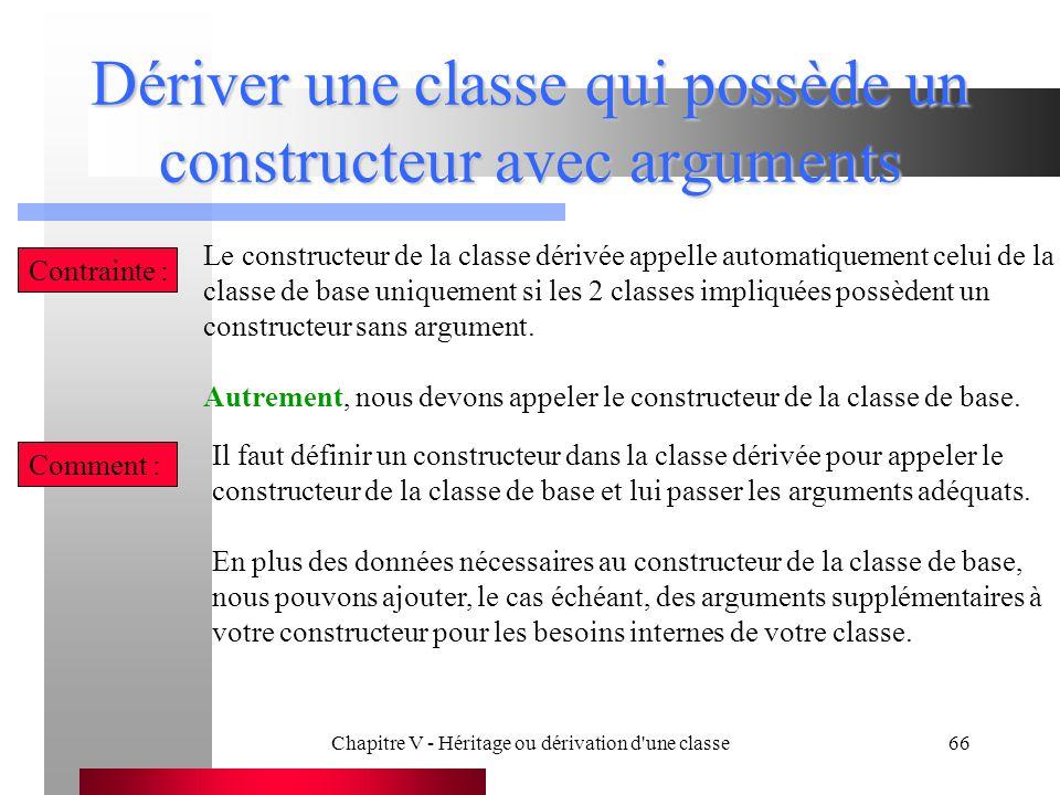 Dériver une classe qui possède un constructeur avec arguments
