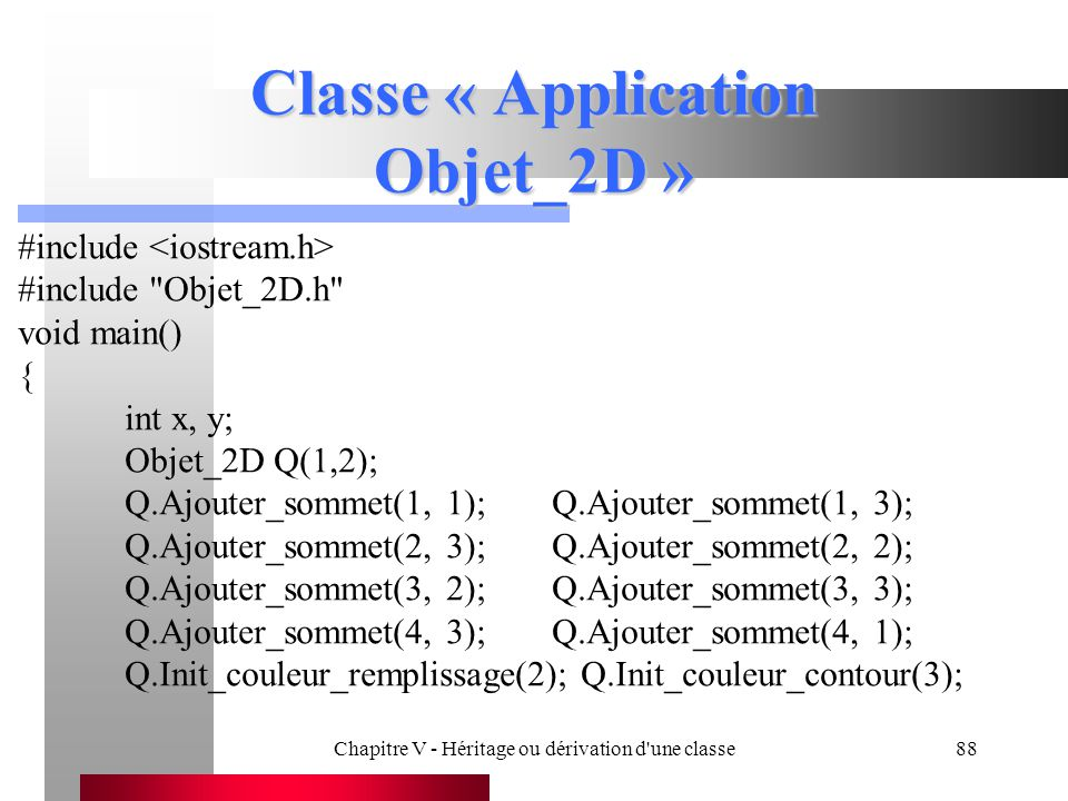 Classe « Application Objet_2D »
