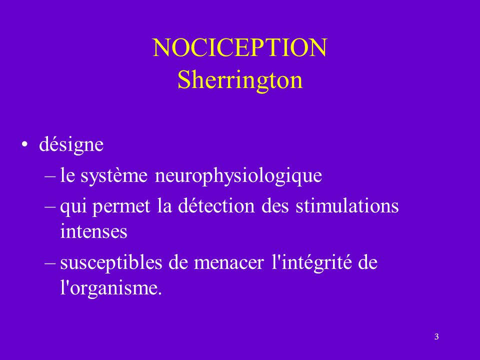 NOCICEPTION Sherrington