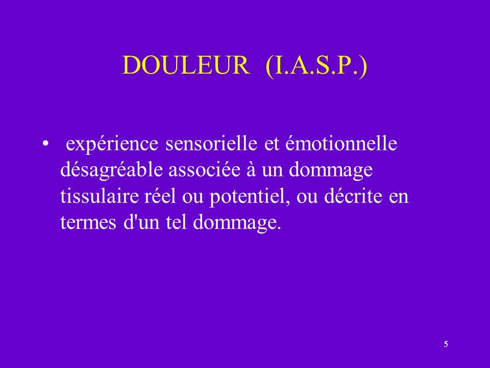DOULEUR (I.A.S.P.)
