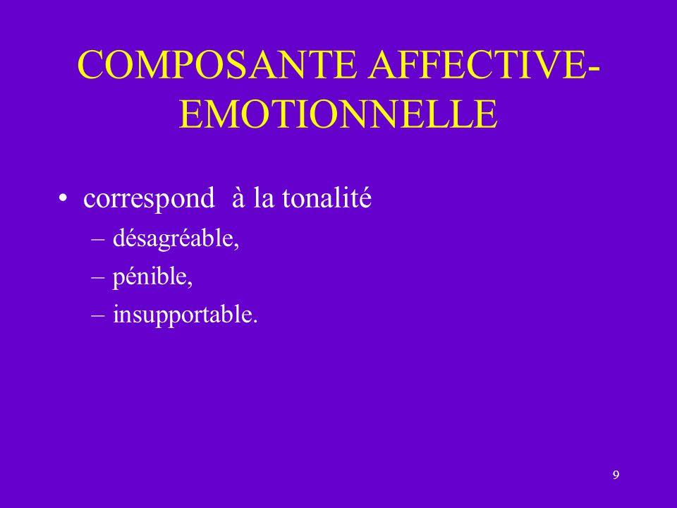 COMPOSANTE AFFECTIVE-EMOTIONNELLE