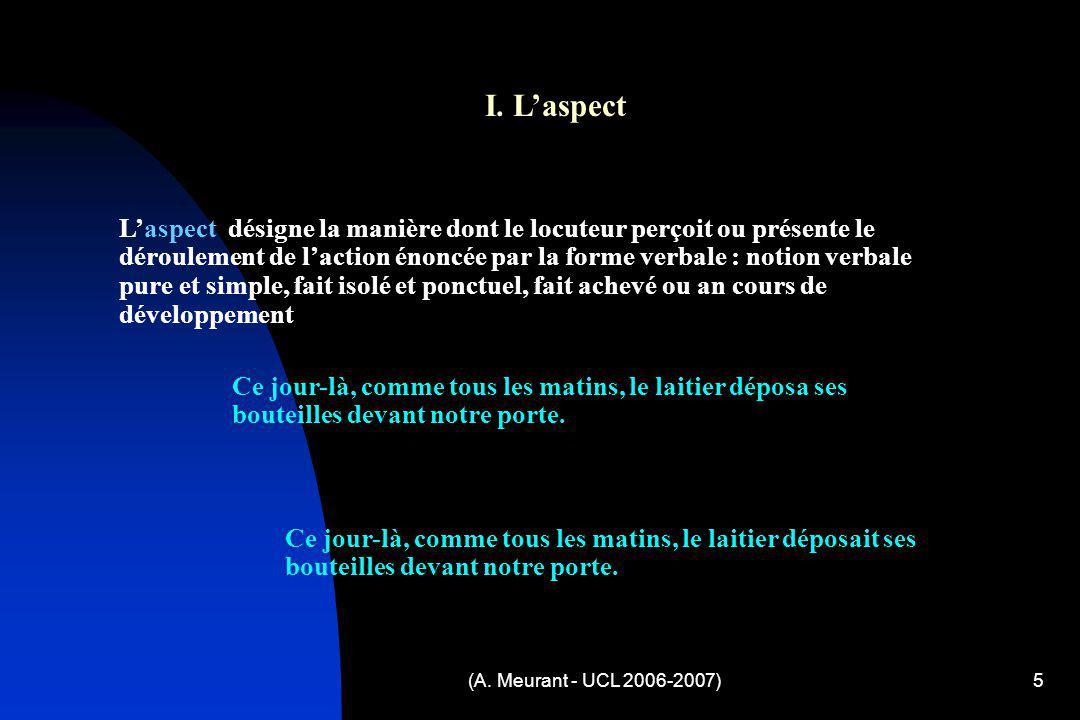 I. L'aspect