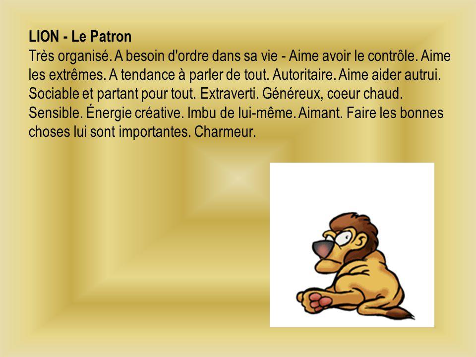 LION - Le Patron Très organisé