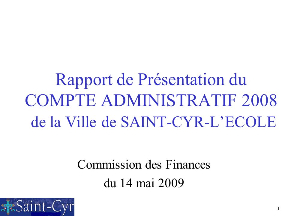 Commission des Finances du 14 mai 2009