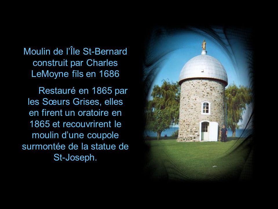 Moulin de l'Île St-Bernard construit par Charles LeMoyne fils en 1686
