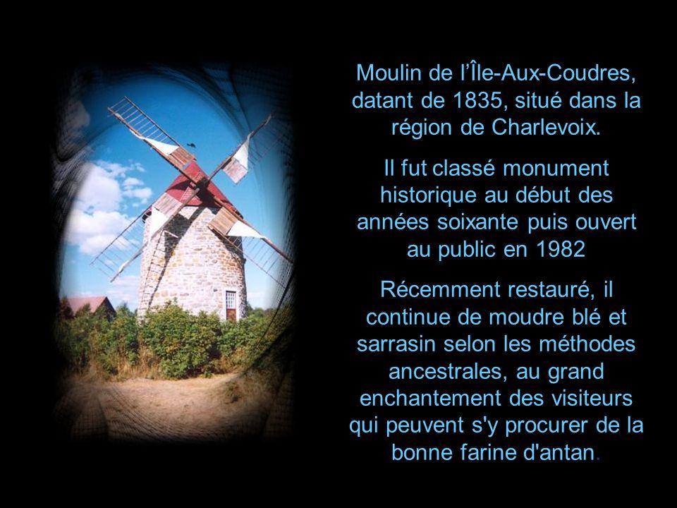 Moulin de l'Île-Aux-Coudres, datant de 1835, situé dans la région de Charlevoix.