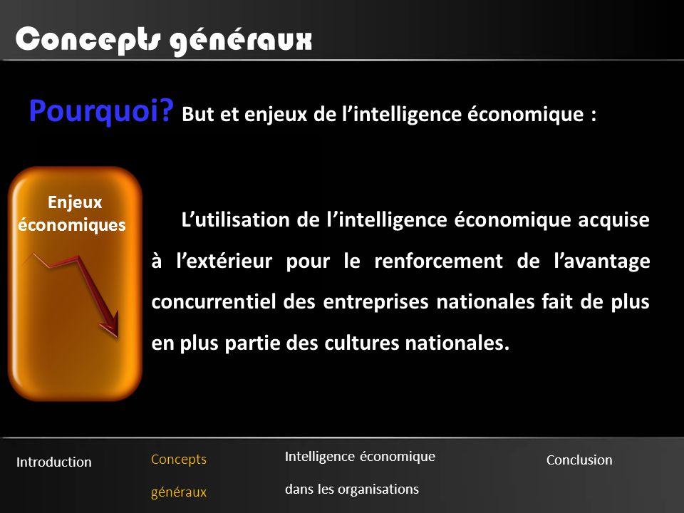 Pourquoi But et enjeux de l'intelligence économique :