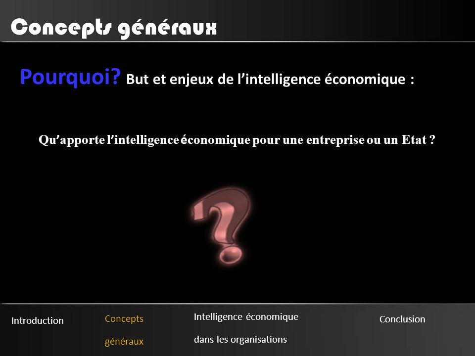 Qu'apporte l'intelligence économique pour une entreprise ou un Etat