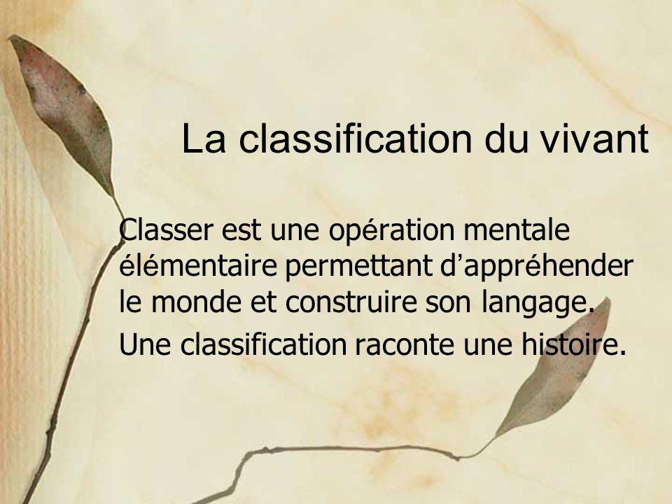 La classification du vivant