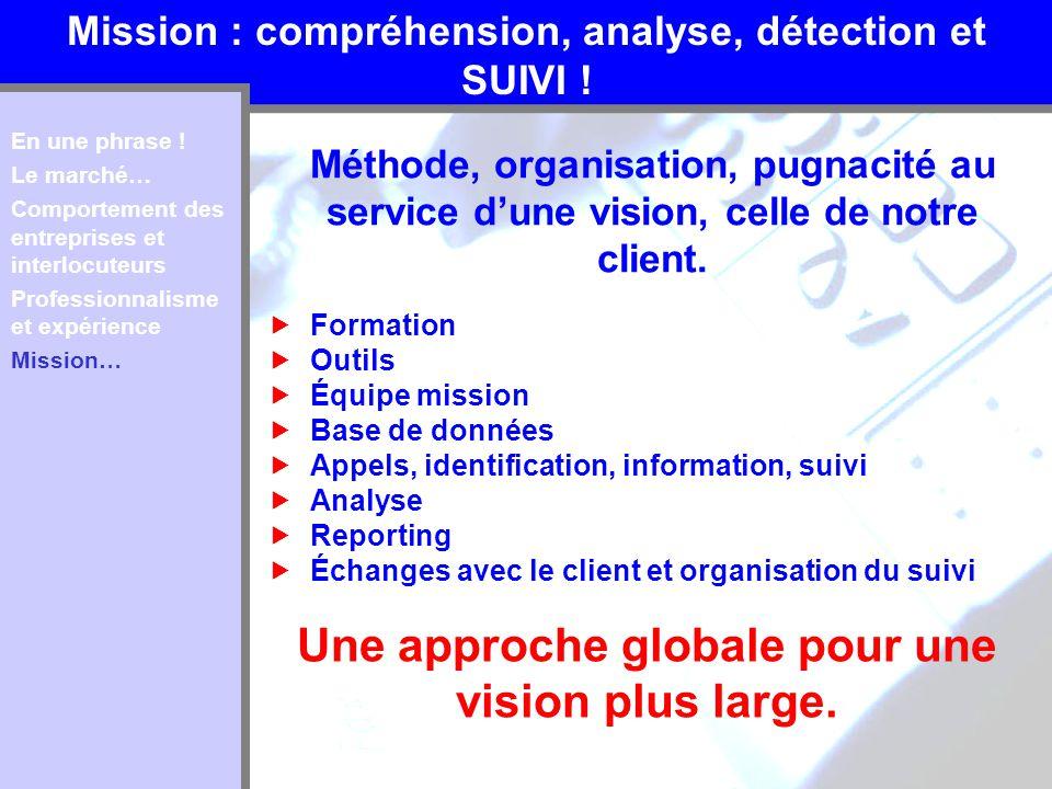 Une approche globale pour une vision plus large.