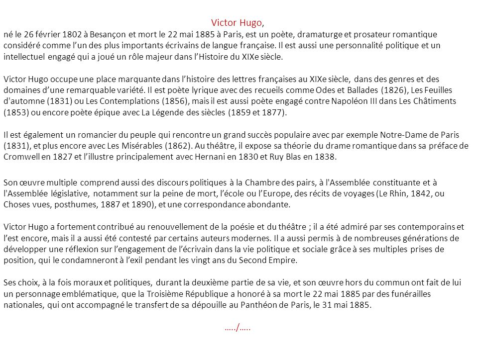 Victor Hugo,
