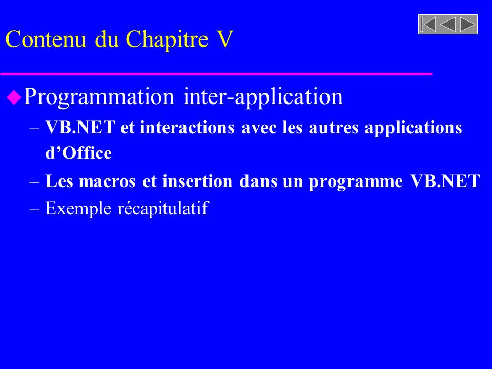 Programmation inter-application