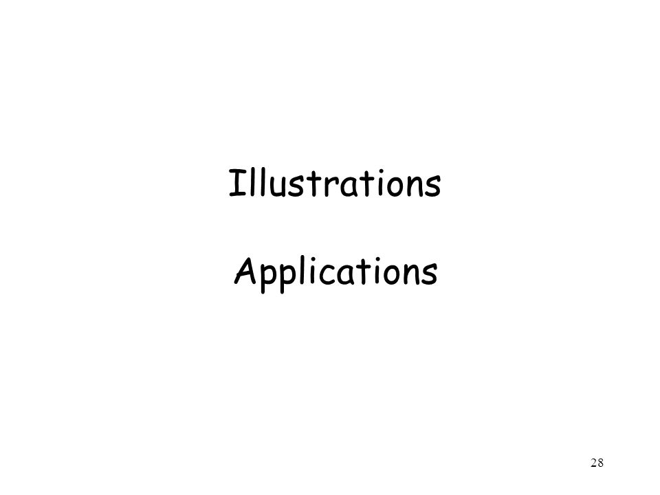 Illustrations Applications