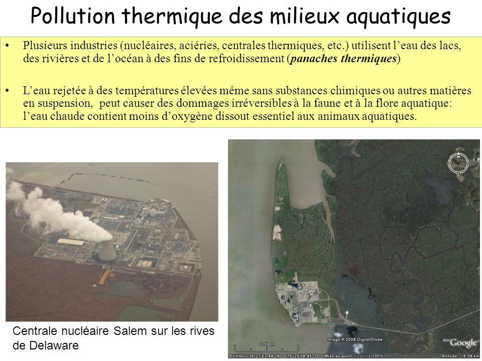 Pollution thermique des milieux aquatiques