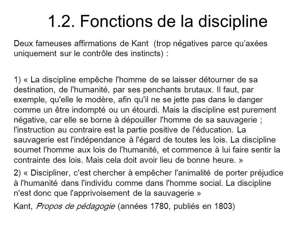 1.2. Fonctions de la discipline