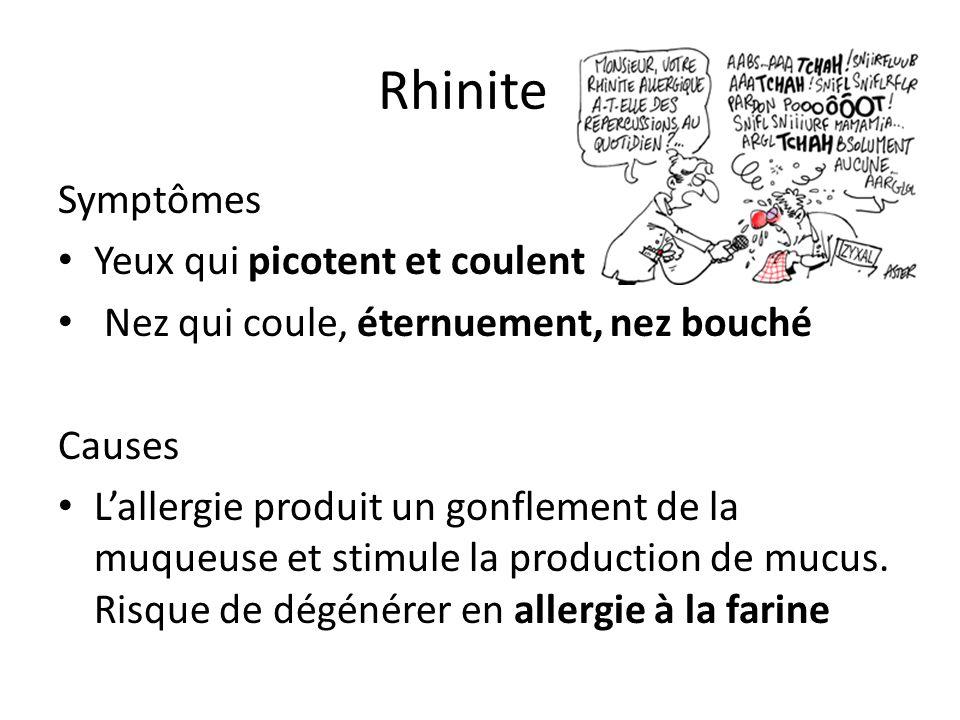 Rhinite Symptômes Yeux qui picotent et coulent